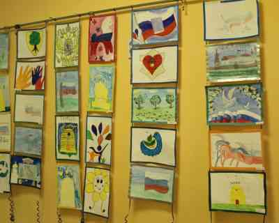 Выставка рисунков Моя Родина-min